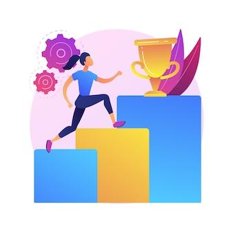 Ilustração do conceito abstrato de desenvolvimento pessoal. desenvolver potencial de talentos, crescimento de carreira pessoal, capital humano, pode fazer isso, habilidades sociais, autoaperfeiçoamento, coach