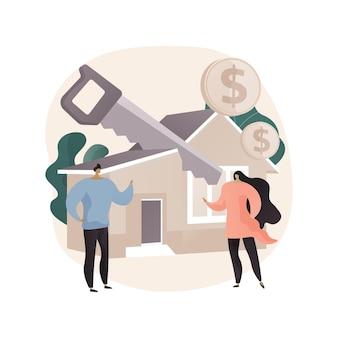 Ilustração do conceito abstrato de divisão de propriedade