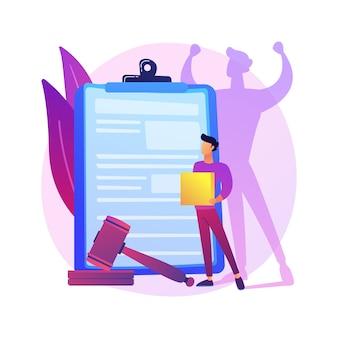 Ilustração do conceito abstrato de emancipação. ambição do empresário, motivação, trabalho no escritório, sucesso
