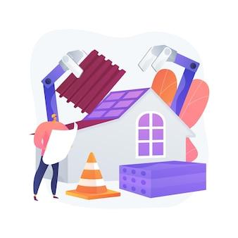 Ilustração do conceito abstrato de equipamento de construção automatizado