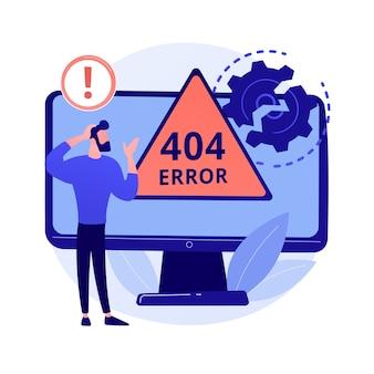 Ilustração do conceito abstrato de erro 404