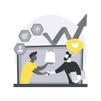 Ilustração do conceito abstrato de gerenciamento de relacionamento com o cliente.