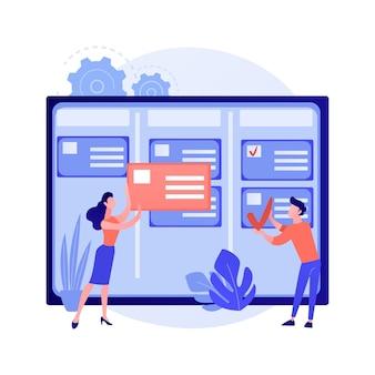 Ilustração do conceito abstrato de gerenciamento de tarefas
