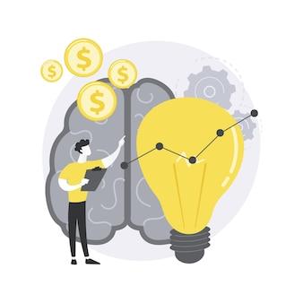 Ilustração do conceito abstrato de inteligência empresarial.