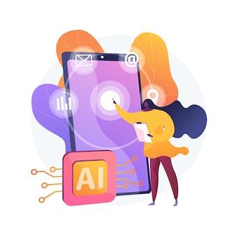 Ilustração do conceito abstrato de interface inteligente