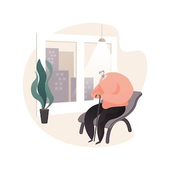 Ilustração do conceito abstrato de isolamento social