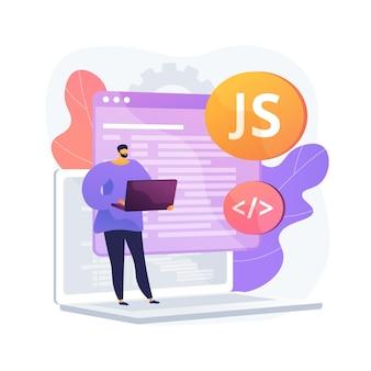 Ilustração do conceito abstrato de javascript