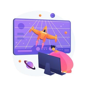 Ilustração do conceito abstrato de jogo de ação