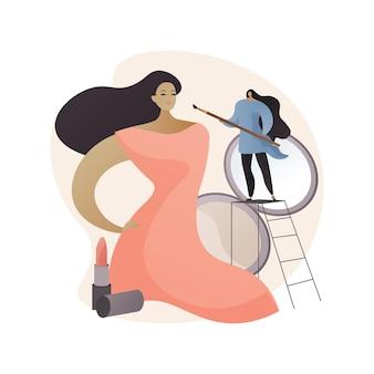 Ilustração do conceito abstrato de maquiagem profissional