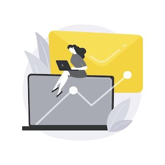 Ilustração do conceito abstrato de marketing por e-mail.