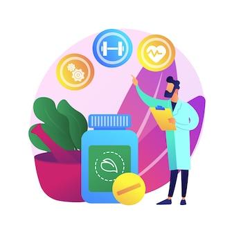 Ilustração do conceito abstrato de medicina holística. medicina natural alternativa, terapia mental holística, tratamento de corpo inteiro, prática de saúde, doença, médico integrador.