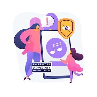 Ilustração do conceito abstrato de música para aconselhamento parental