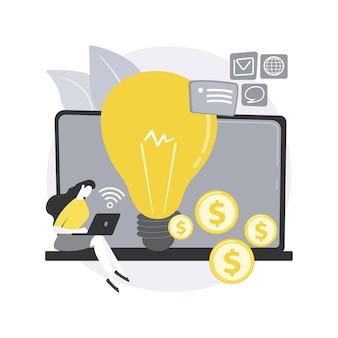 Ilustração do conceito abstrato de negócios online.