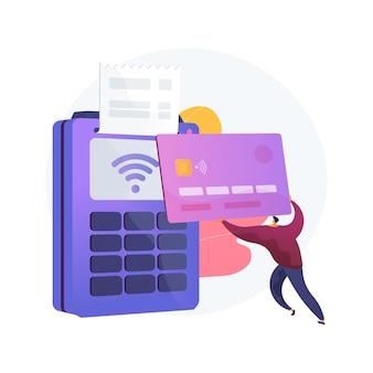 Ilustração do conceito abstrato de pagamento sem contato
