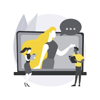 Ilustração do conceito abstrato de persona do cliente.