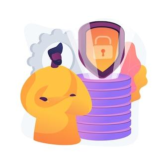 Ilustração do conceito abstrato de proteção de dados de segurança cibernética