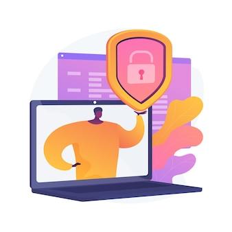 Ilustração do conceito abstrato de proteção de dados
