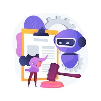 Ilustração do conceito abstrato de regulamentos de inteligência artificial