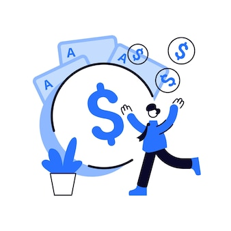 Ilustração do conceito abstrato de renda de jogo. tributação