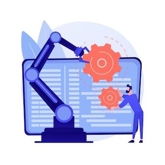 Ilustração do conceito abstrato de robótica colaborativa