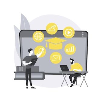 Ilustração do conceito abstrato de sala de aula digital.