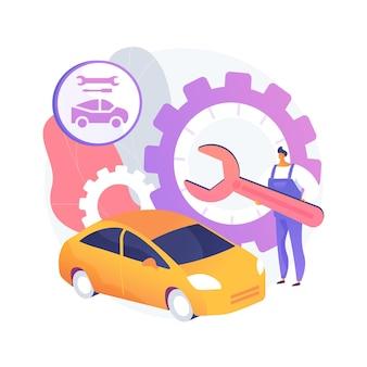 Ilustração do conceito abstrato de serviço de carro