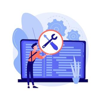 Ilustração do conceito abstrato de serviço de computador