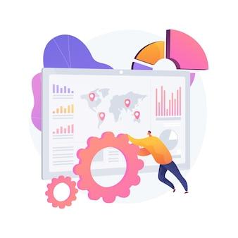 Ilustração do conceito abstrato de serviço do painel
