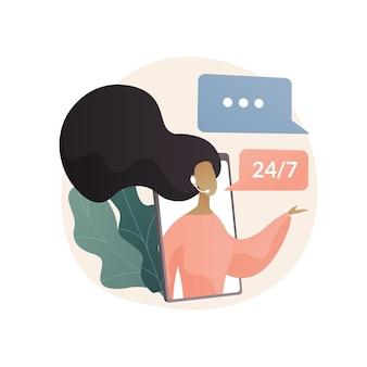 Ilustração do conceito abstrato de serviço personalizado