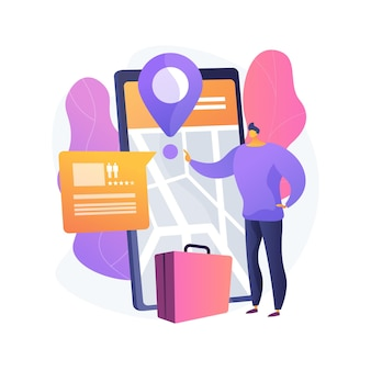 Ilustração do conceito abstrato de serviços de reservas online