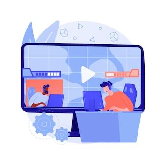 Ilustração do conceito abstrato de streaming de jogo de e-sport