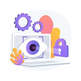 Ilustração do conceito abstrato de tecnologia de rastreamento ocular