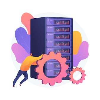Ilustração do conceito abstrato de trabalho de big data