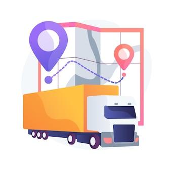 Ilustração do conceito abstrato de transporte nacional