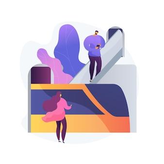Ilustração do conceito abstrato de transporte por duto