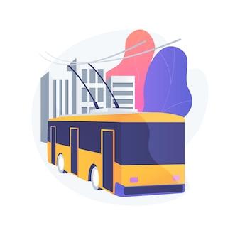 Ilustração do conceito abstrato de transporte público