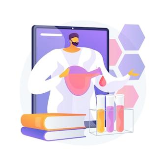 Ilustração do conceito abstrato de tutoria de ciência on-line. aprendizagem personalizada, plataforma educacional online, educação domiciliar