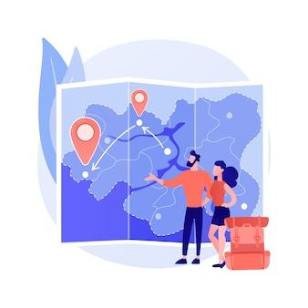 Ilustração do conceito abstrato de viagem dentro do país