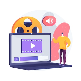 Ilustração do conceito abstrato de vídeo design