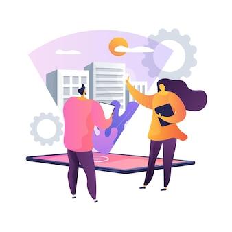 Ilustração do conceito abstrato de visualização de design interativo