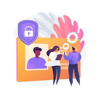 Ilustração do conceito abstrato do cartão de identificação inteligente