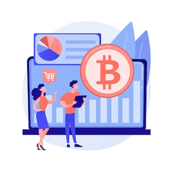 Ilustração do conceito abstrato do mercado de criptomoedas
