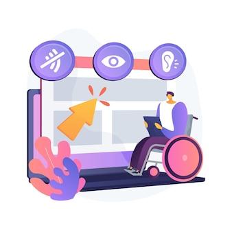 Ilustração do conceito abstrato do programa de acessibilidade da web