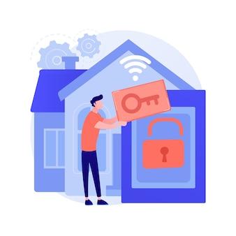 Ilustração do conceito abstrato do sistema de controle de acesso