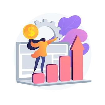 Ilustração do conceito abstrato do sistema de gestão financeira