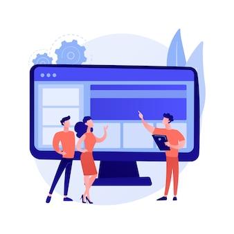 Ilustração do conceito abstrato do site corporativo