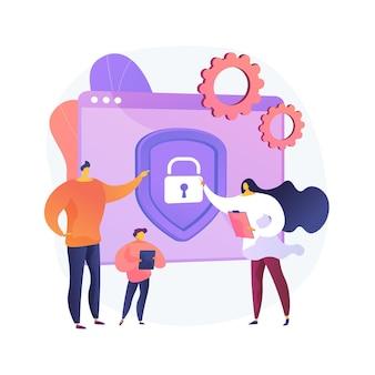 Ilustração do conceito abstrato do software de controle dos pais