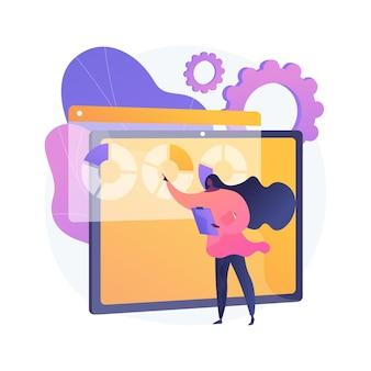 Ilustração do conceito abstrato do software de gestão da inovação