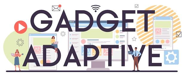Ilustração do conceito adaptável de gadget