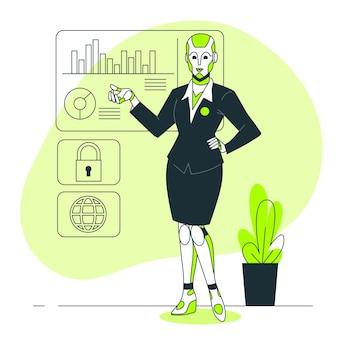Ilustração do conceito android